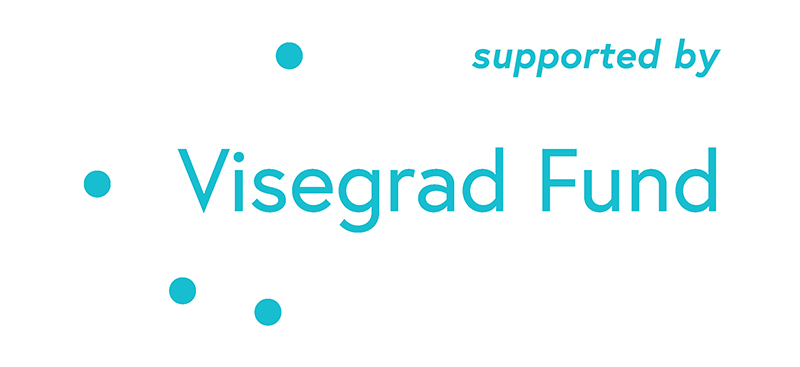 visegrad fund logo supported by blue 800px